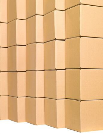Arranged cardboard boxes Stock Photo - 7570956