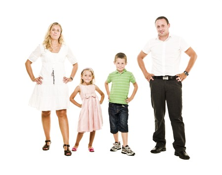 Family isolated on white background Stock Photo - 7587467