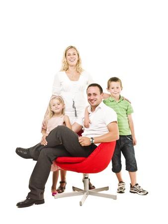 Family isolated on white background photo