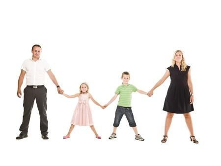 Family isolated on white background Stock Photo - 7587490