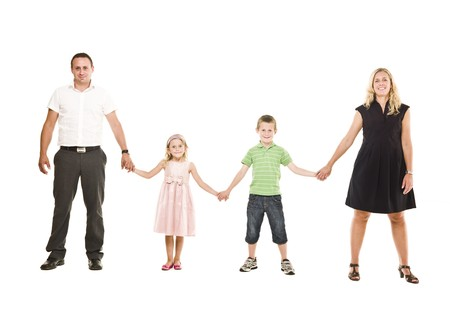 Family isolated on white background Stock Photo - 7587466