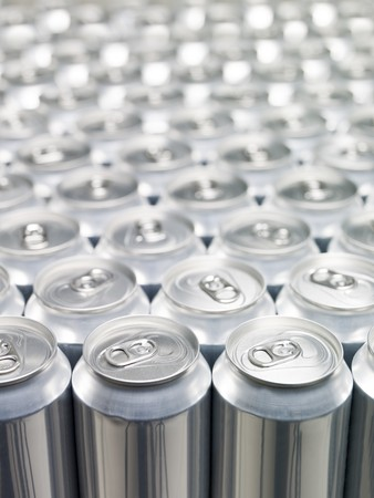 Several Aluminium Cans at a warehouse Stock Photo - 7780242
