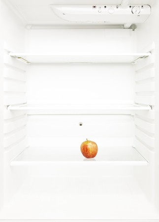 One Lonely Apple in the regrigerator photo