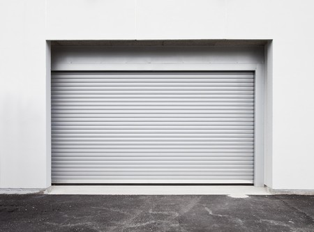 garage door: Garage door at a modern building