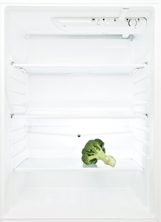 Lonely Broccoli in a fridge photo