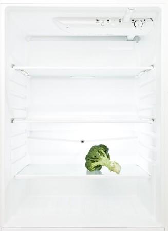 Lonely Broccoli in a fridge photo
