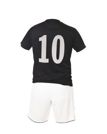 number 10: Football shirt with number 10 isolated on white background Stock Photo