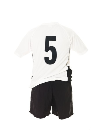 number 5: Football shirt with number 5 isolated on white background