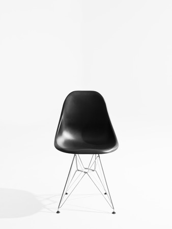 Retro chair isolated on white background photo