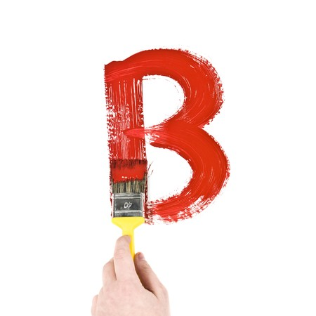 Painting Letter B on white background Stock Photo - 8035901