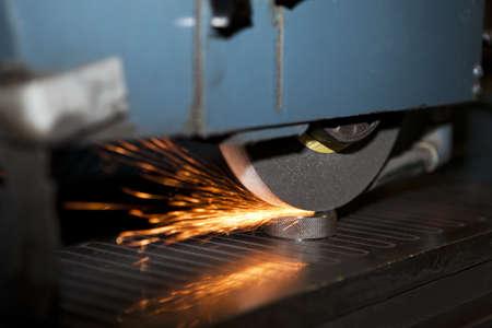 laser cutting: Laser Cutting close-up Stock Photo