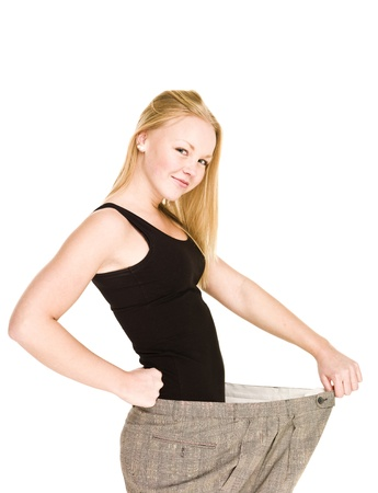 Young girl lost a lot of weight Stock Photo - 8308712