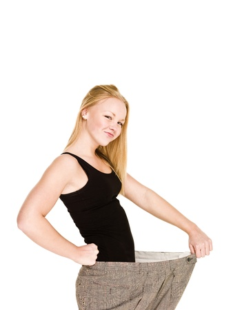 Young girl lost a lot of weight Stock Photo - 8308713