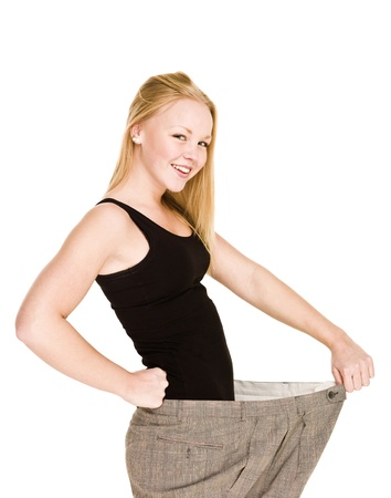 Young girl lost a lot of weight Stock Photo - 8308703