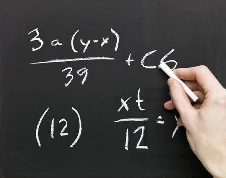 Close up of Mathematics on a blackboard Stock Photo - 8481891