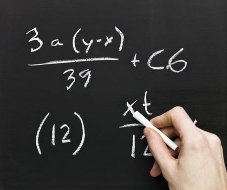 Close up of Mathematics on a blackboard Stock Photo - 8481914