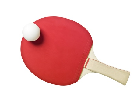 tennis racket: Table Tennis Racket isolated on white background Stock Photo