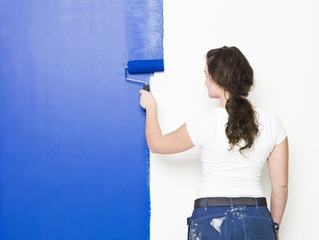 Painting Girl half way there Stock Photo - 8930476