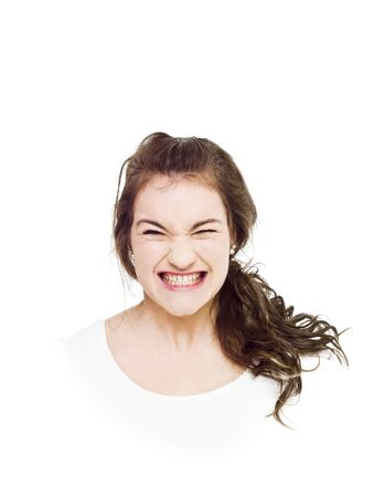 Young woman making a funny face photo