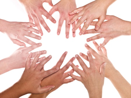 Group of Human Hands isolated on white background Stock Photo - 8930488