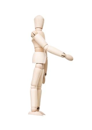 Bambola di disegno fare una stretta di mano isolato su sfondo bianco Archivio Fotografico - 9122998