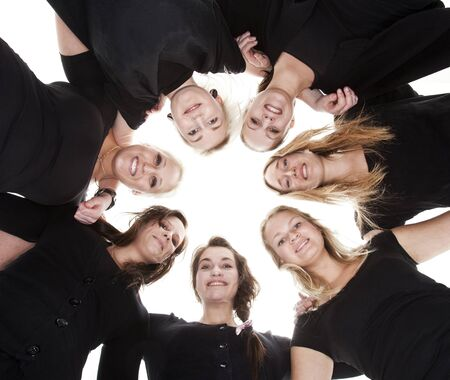 Group of Young Women from low angle view Stock Photo - 9189714