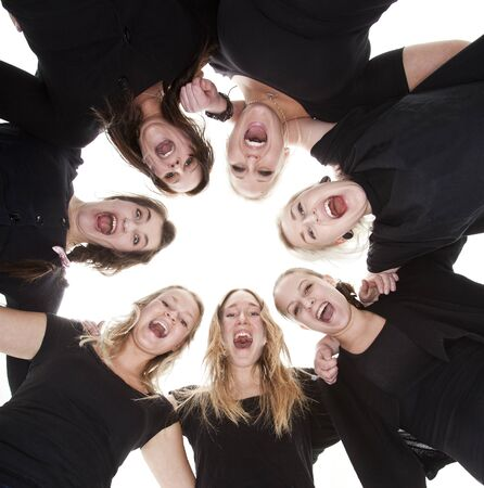 Group of Young Women from low angle view Stock Photo - 9194009