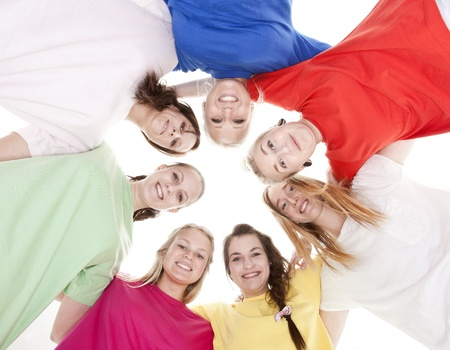 Group of Young Women from low angle view Stock Photo - 9189713