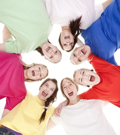 Group of Young Women from low angle view Stock Photo - 9189725