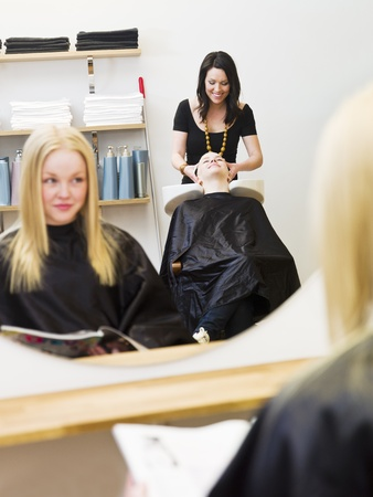 Situation at a Hair Salon Stock Photo - 9288973