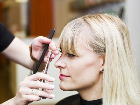 Blond woman at the Hair Salon Stock Photo - 9289573