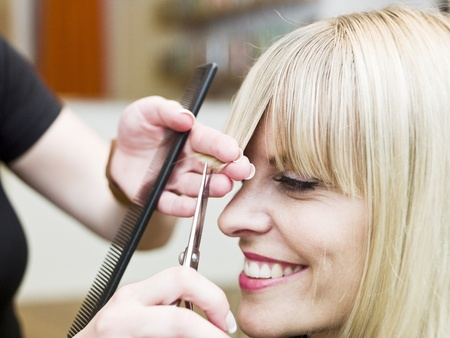 Blond woman at the Hair Salon Stock Photo - 9289564