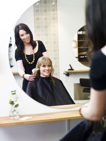 Blond woman at the Hair Salon Stock Photo - 9287495