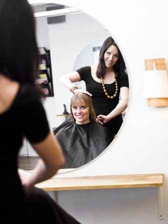 Blond woman at the Hair Salon Stock Photo - 9287612