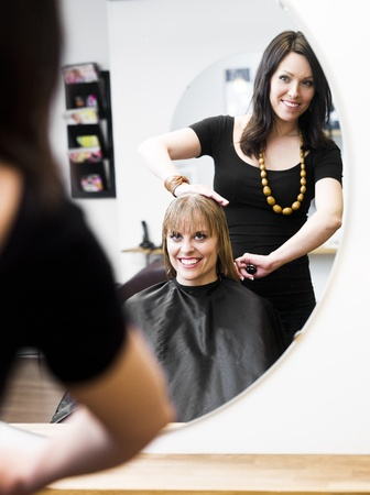 Blond woman at the Hair Salon Stock Photo - 9287657