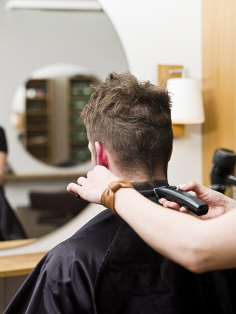 Man at the Hair salon situation Stock Photo - 9289567