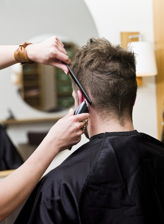 salon hair: Situation in a hair studio