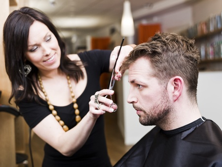 Man at the Hair salon situation Stock Photo - 9287561