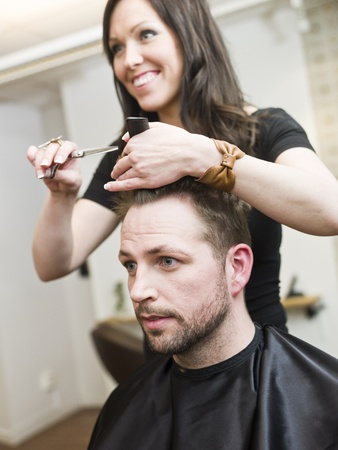 Man at the Hair salon situation Stock Photo - 9289562