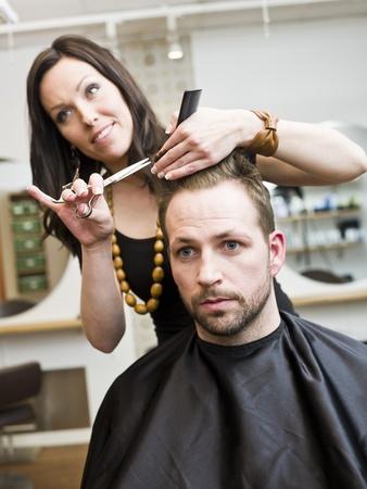 Man at the Hair salon situation Stock Photo - 9289569