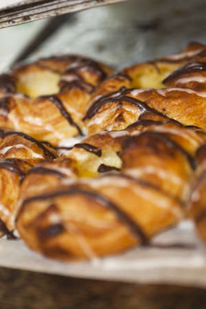 short focal depth: Danish Pastry on a plate with short focal depth Stock Photo