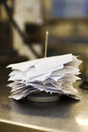 resturant: Stack of resturant bills