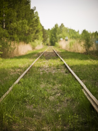 Railroad Track with short focal depth