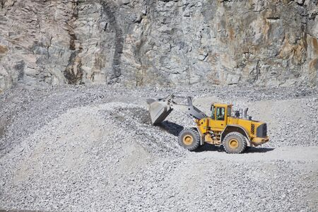 sand quarry: Truck at the Construction site Editorial