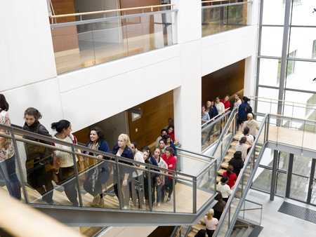 Large group of people waiting in line Stock Photo - 10696371