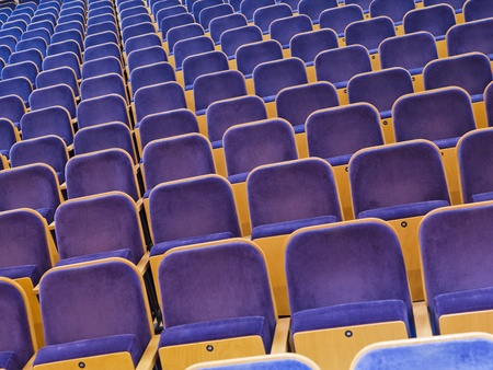 Full Frame of Blue Spectators Seats photo