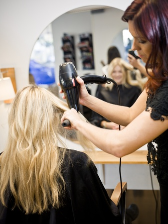 costumer: Situation in a Hair Salon Stock Photo