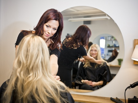 situation: Situation in a Hair Salon Stock Photo