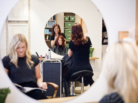 Situation in a Hair Salon Stock Photo