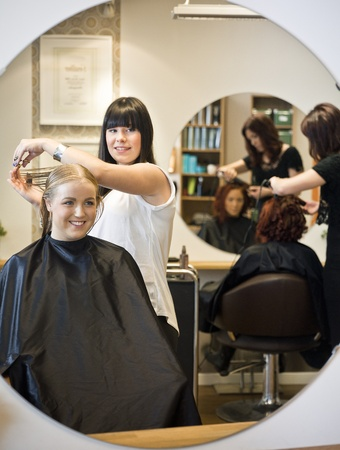 Situation in a Hair Salon Stock Photo - 11223841